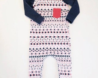 Azteque harem romper for toddlers and baby