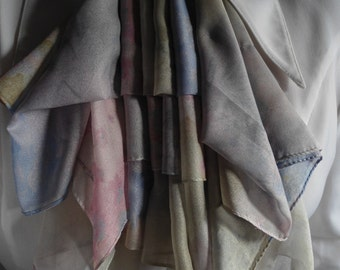 jabot in silk multi-color