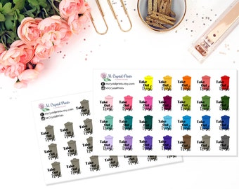 Take Out The Trash Planner Stickers (26 Stickers)
