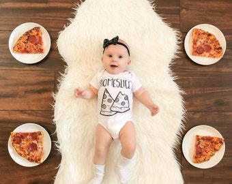 Homeslice Baby Onesie, Funny Baby Onesies ®, Cute Baby Clothes, Funny Baby Shower Gift