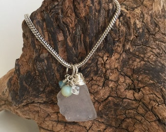Authentic Wire Wrapped Beach Glass Necklace