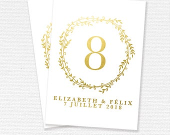 Brand table printable, Wedding Reception, wedding stationery, printable (#02)