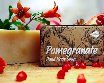 Pomegranate Soap,all naural soap,herbal soap,organic soap,vegan soap,mens soap,facial soap,gift for christmas,gift for all,unscented soap