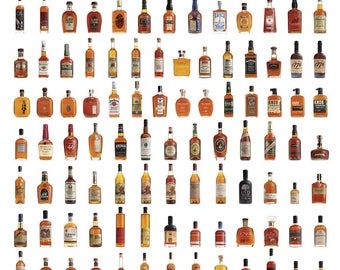 American Whiskey, Bourbon & Rye Wall Poster