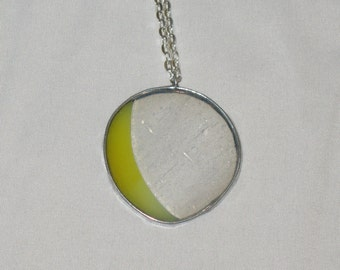 Stained Glass Moon Necklace