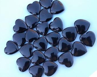 Black Onyx Heart Crystal Heart Gemstone