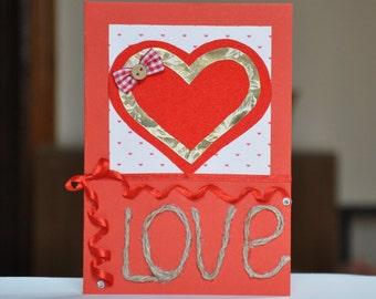 Handmade Valentine's Day Card.