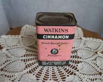 Watkins Cinnamon Vintage Tin