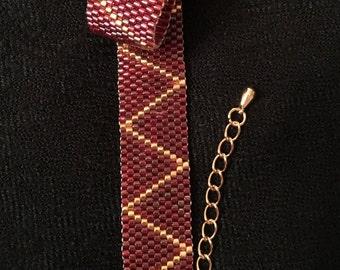 Bracelet en perles Miyuki, perles MIYUKI, BRACELET, Bracelet tissé, look glamour, joli cadeau, fait main, bracelet en or, géométrique, grand LOOK!