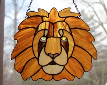 Huge Imperial Lion Face Suncatcher