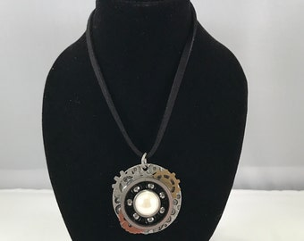 Steampunk Skate Bearing Necklace