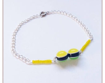 "Yellow ""Rainbow Collection"" bracelet"