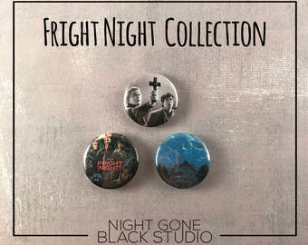"Fright Night 1"" Button Collection - Horror, Cult"