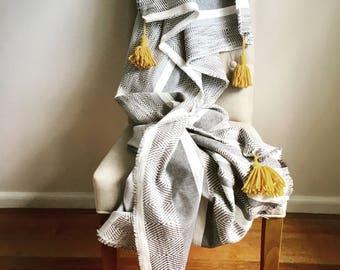 Boho Bed Throw Blanket, boho throw, boho bedding, cotton throw, cotton blanket, Home Decor, house warming gift, boho blanket