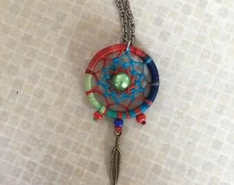 Berry Blast Dream Catcher Necklace