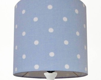Dotty Spotty Blue Handmade 20cm 30cm 40cm Lampshade Perfect for a Nursery