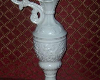 Handmade Ceramic Cherub Pitcher Vase