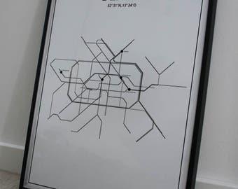 Metro map poster - Berlin