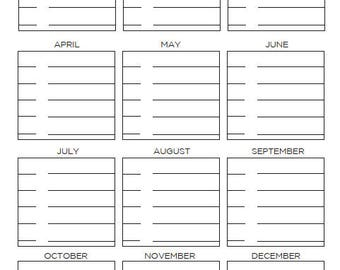 Big- Happy Planner- Birthdays and Anniversaries