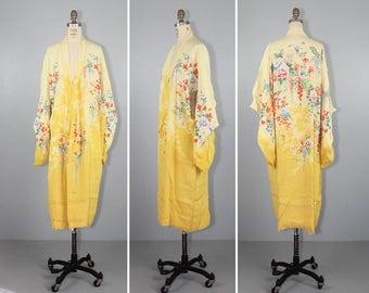 1930s kimono / reversible / silk robe / EARLY SUNSHINE vintage kimono