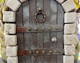 Rustic Castle Fairy Door