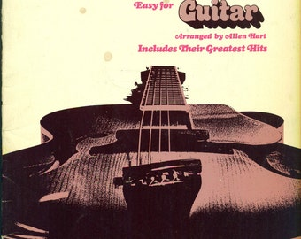 THE BEE GEES Made for Easy Guitar Greatest Hits 1970s Songbook Alan Hart Arrangements