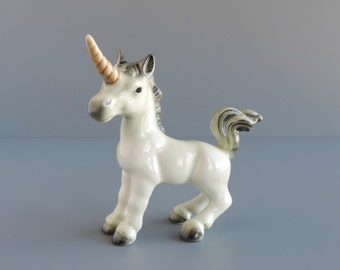 Vintage Goebel Unicorn Figurine, Made in West Germany, Collectible Home Decor, Mythical Fantasy Animal