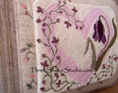 Punch Needle Pattern - Flowers From The Heart - #PN515 - Needlepunch Embroidery