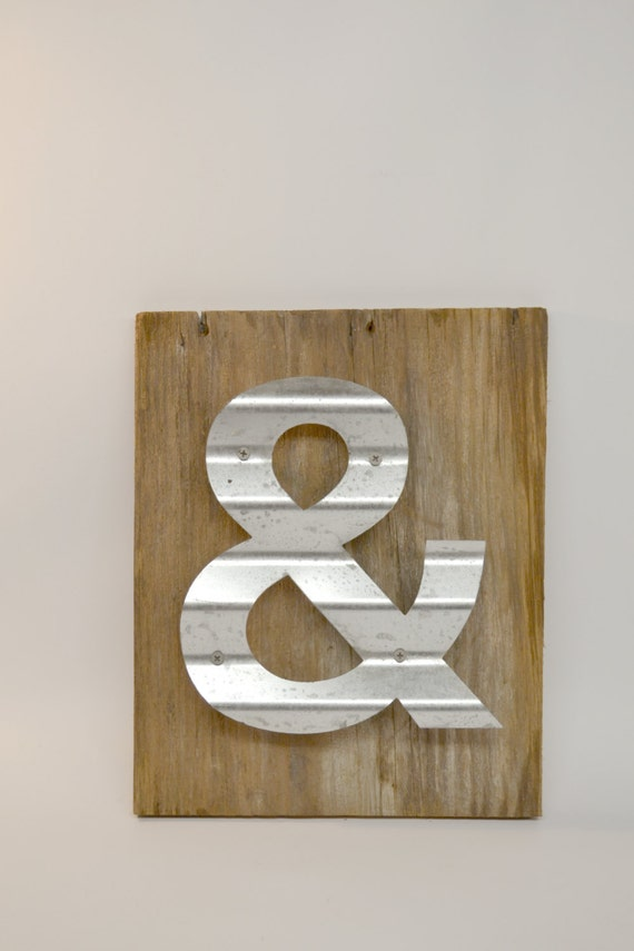 Items Similar To Reclaimed Wood Sign Ampersand Sign