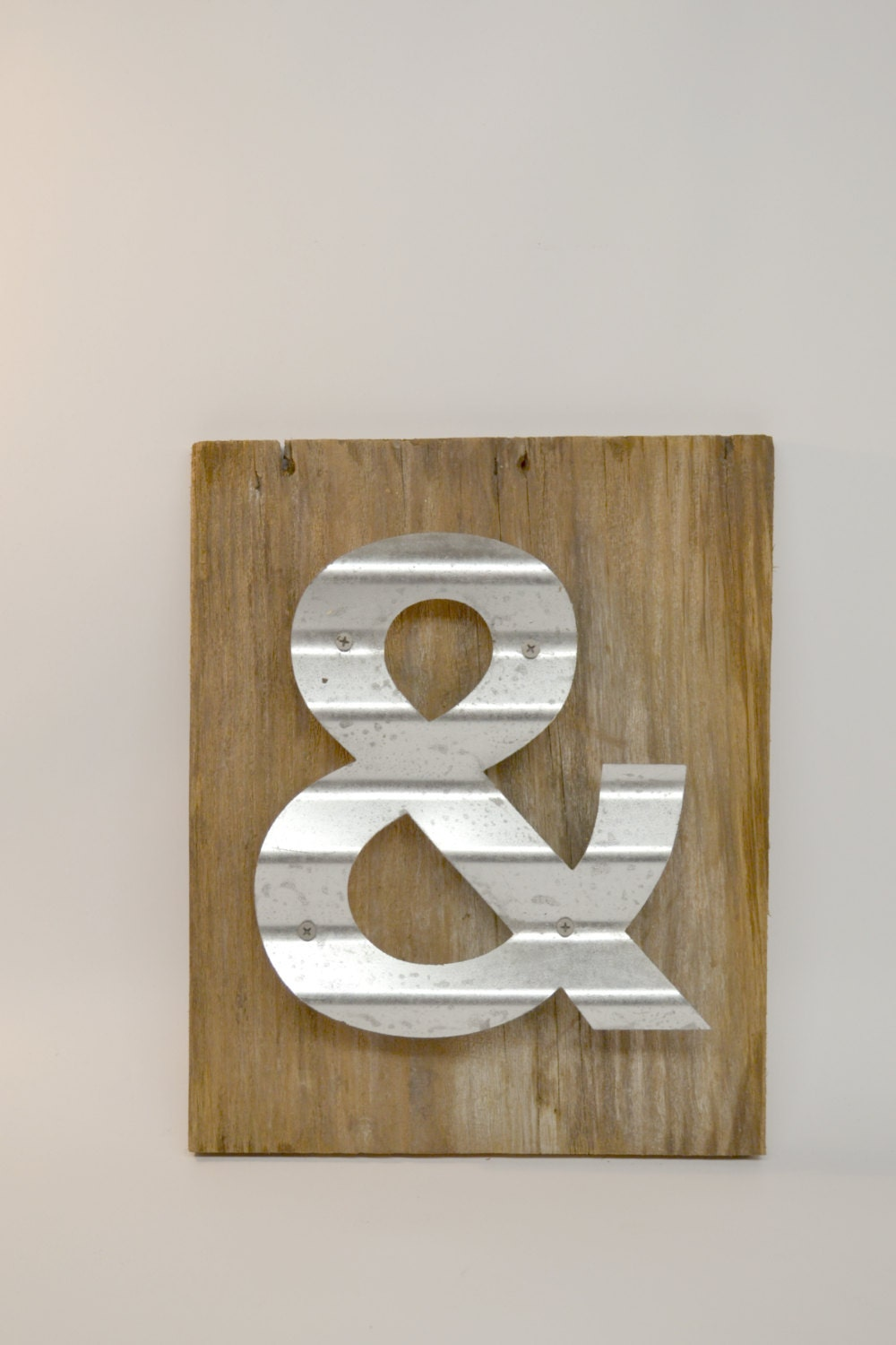 Reclaimed wood sign ampersand sign ampersand wall decor for Ampersand decor