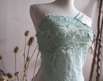 Mermaid lace top festival dance burning man costume