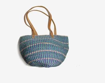 Vintage Market Bag / Market Tote Bag / Straw Purse / Woven Jute Bag / Sisal Tote Bag