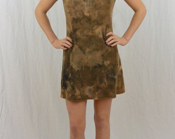 Vintage Upcycled Apocalyptic Dress, Size XS, Mini Dress, The Walking Dead, Punk, Grunge, OOAK, Riot Girl, Tumblr Clothing, 90's, Bleached