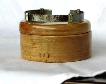 A Skinny Cuff Bracelet, Cuff Bracelet for Women, Copper and Sterling Silver, Women's Bracelet, Adjustable Bracelet, Gift Idea for Woman