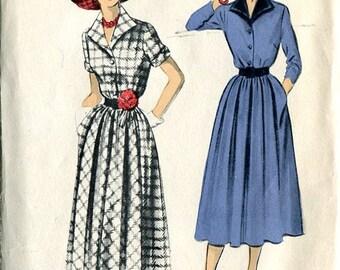 Advance 5493 1950s Dress Classic Shirtdress Pattern B32