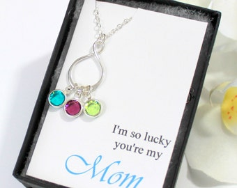 Mothers Necklace, Personalized Mothers Birthstone Necklace, Mothers Jewelry, Mommy Necklace, Grandmother Necklace, Gift for Grandmother