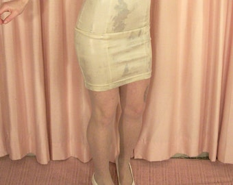Sheer White and Silver Sparkle Pantyhose, Tights