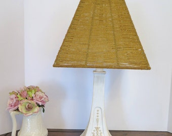 Vintage Style Lamp with Beaded Lampshade