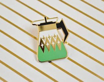 Coffee Carafe Enamel Pin V2- Seafoam Green - Pyrex Inspired - Retro Pin - Lapel Pin - Pin Badge - Cloisonne Pin - Hard Enamel - Coffee Lover