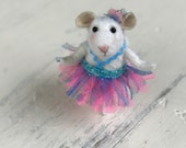 Needle Felted Little Dancer Wool Mouse