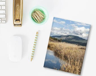 Idaho Scenery, Travel Journal, Hard Cover Traip Planner, Nature Doodle Pad, Blank Diary, Lined 5x7 Journal, 128 Pages, Travel Log, Bullet