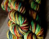 "Super Bulky Single yarn - 80/20 SW Merino/Nylon - Christmas - ""Tiny Tin Soldier"""