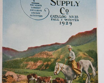 Original Vintage, Stockman Farmer Supply Co, Magazine Cover, Advertising Fall & Winter 1929