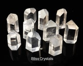 1 Large Clear Quartz Faceted Crystal Generator Point Stone Healing Jewelry Crafts Master Healer #CQ03