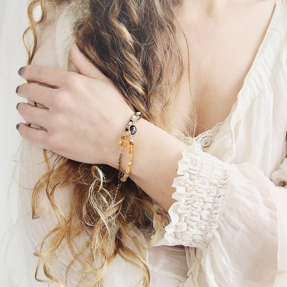 Dendritic Opal Bracelet - Dainty Opal Bracelet