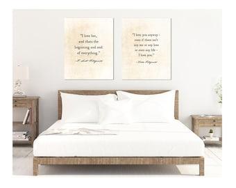 F. Scott Fitzgerald   Zelda Fitzgerald   Love Quote   Anniversary Gift    Rustic Bedroom