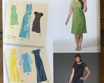 UNCUT Misses' Dress Sewing Pattern Simplicity 1357 Size 10-12-14-16-18-20-22-24-26-28 Maxi, Midi, Modest Dress, Day to Evening, Plus Size