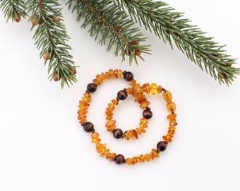 Amber Teething Necklace - Teething Necklace - Baby Teething Necklace - Baltic Amber Teething Necklace - Baltic Amber Jewelry - Boho Baby
