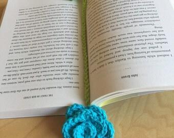 100% Cotton Crochet Bookmark - Spring Collection (Blue)