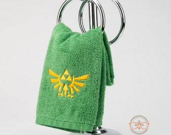Zelda Triforce Inspired - Embroidered Hand Towel